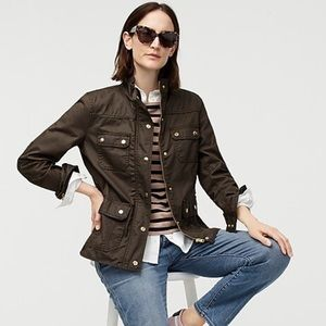J.Crew The Downtown Field Jacket Mossy Brown XXS